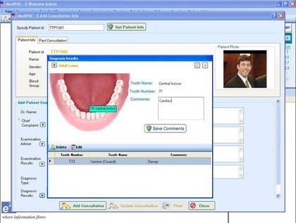 Dental clinic management software