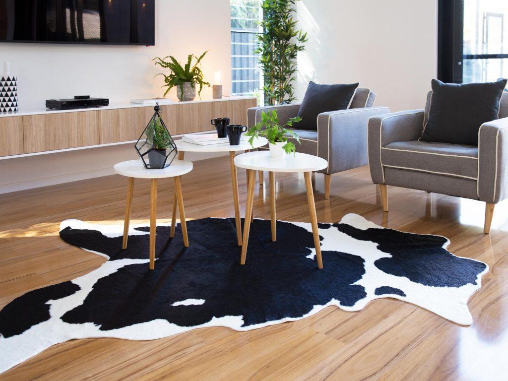 cowhide rug appearance