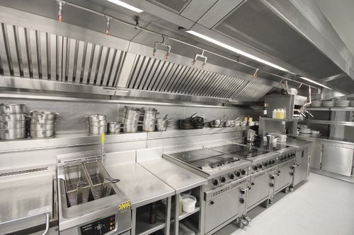 industrial stainless steel cooking
